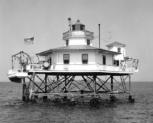 York Spit Light - Copyright 1960 USCG