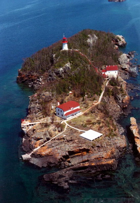 Trowbridge Island Lighthouse - Copyright 2010 Aerial view: Canadian Coast Guard