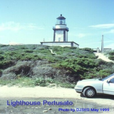 Pertusato Lighthouse - Copyright 1999 DJ3XG, Rug