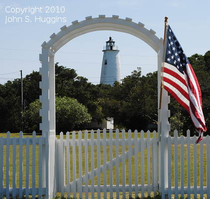 Ocracoke Island Lighthouse - Copyright 2010 John S. Huggins
