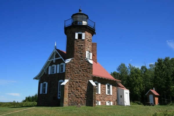 Sand Island Lighthouse, Apostle Island, WI. USA - Copyright 2011 Photo by C. Gerald Emanualson