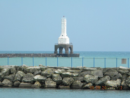 Port Washington Breakwater Light - Copyright 2011 Paul Schumacher KD9FM