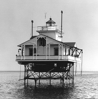 Tue Marshes Light pre 1960 - Copyright 2013 USCG