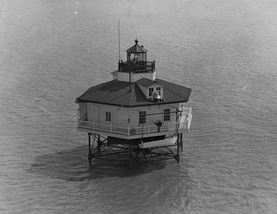 Maryland Point Lighthouse 1952 - Copyright 1952 USGC