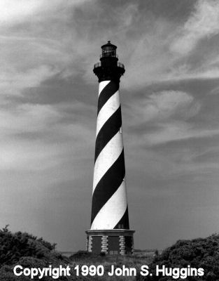 Hatteras before its move to its current location. - Copyright 1990 John S. Huggins