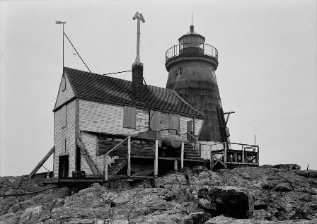 Saddle Back Ledge Lighthouse - Copyright 1960 USCG