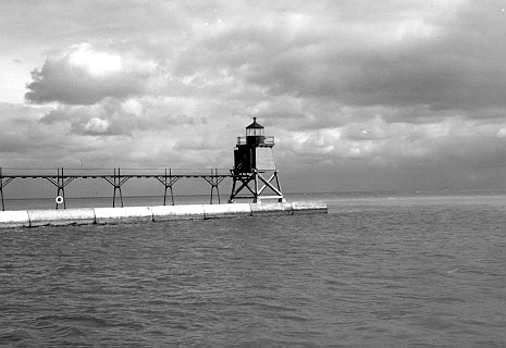 Two Rivers Pierhead Light - date unknown - Copyright 1974 USCG