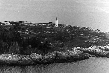 Aerial view of Franklin Island - Copyright 1950 USCG