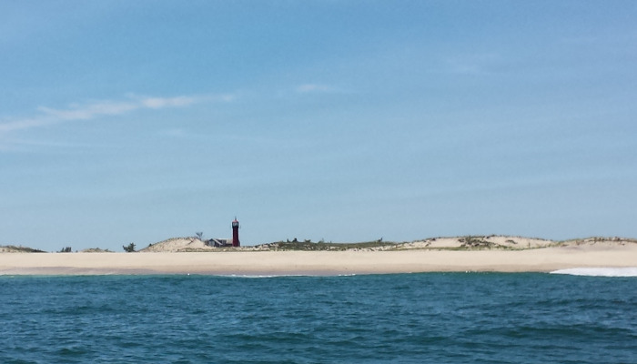 Monomoy Point Light seen from the Atlantic Ocean - Copyright 2015 Brent Putnam