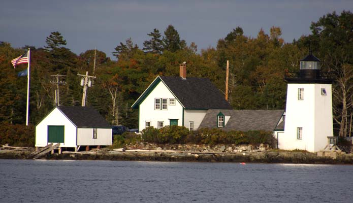 Grindle Point Light in Gilkey Harbor - Copyright 2014 WA9HED