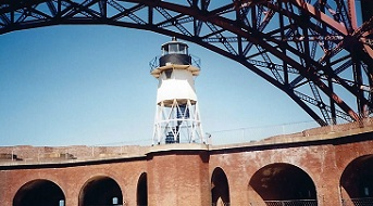 Fort Point Lighthouse - Copyright 1999 KF4ZLO
