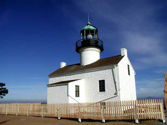 Old Point Loma Lighthouse - Copyright 2007 Photo by F. Lee Graves